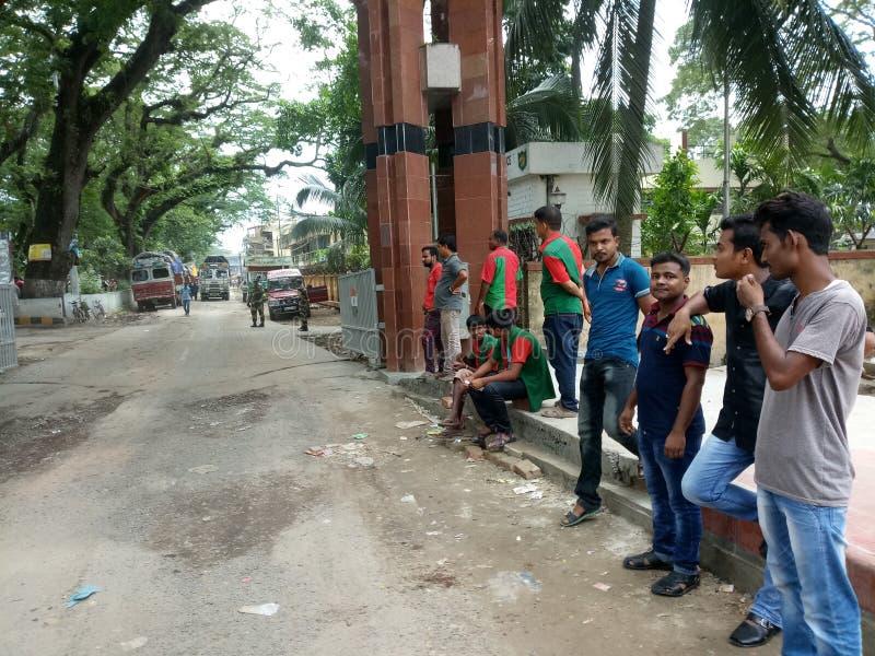 Indien- und Bangladesch-Grenze stockfotos