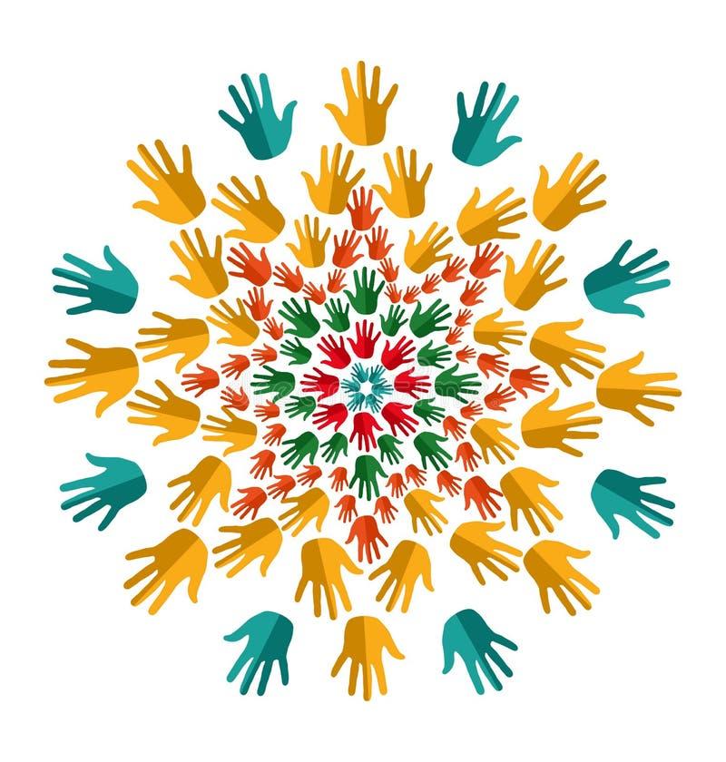 Indien yoga isolerad mandala stock illustrationer