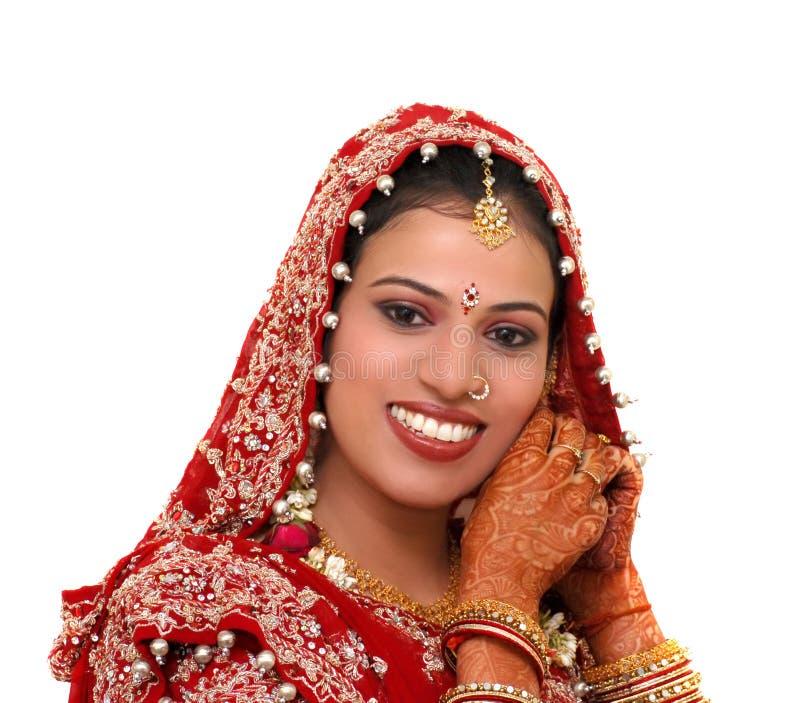 Indienne de mariée photographie stock