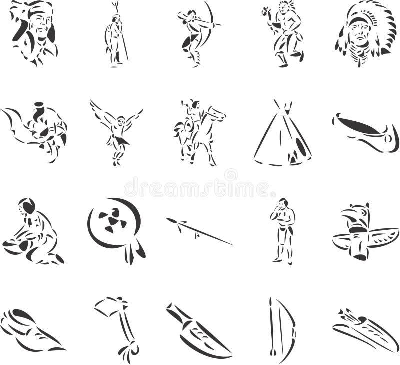 Indiens d'Amerique illustration de vecteur