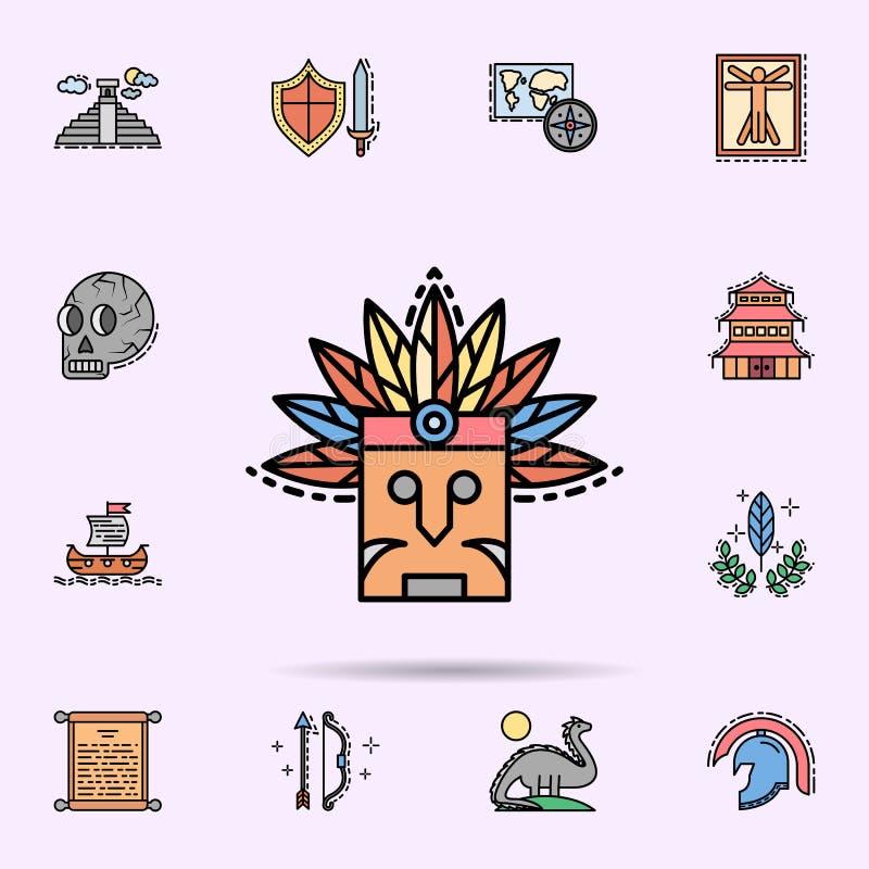 Indier egen, maskering, fj?dersymbol E stock illustrationer
