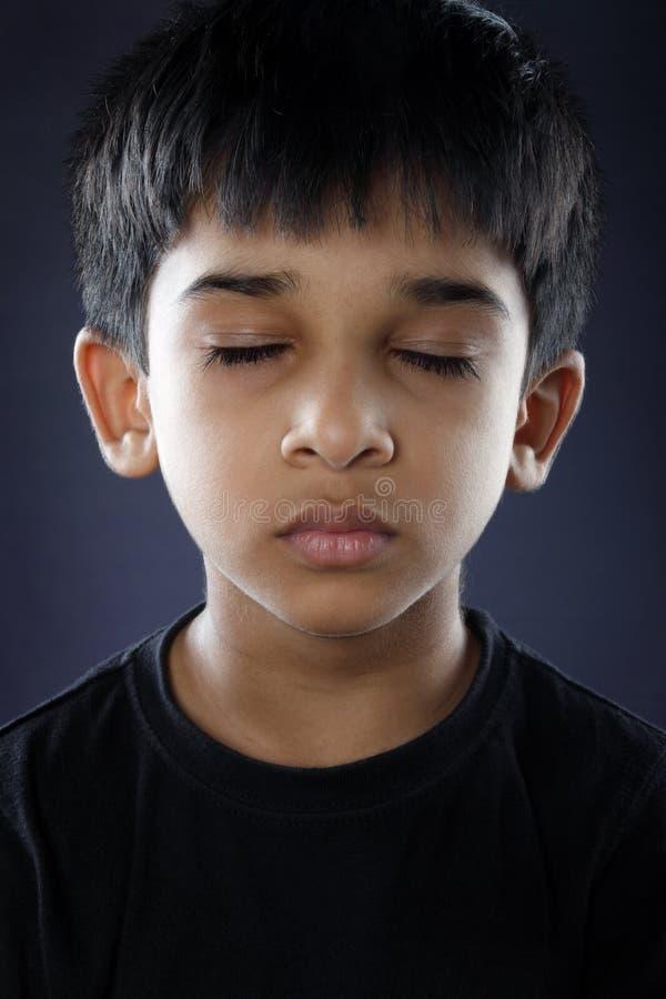 Indier Little Boy royaltyfria foton