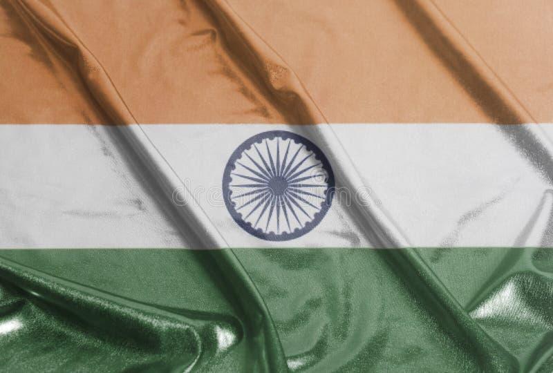 Indier skvalpad vinkande flagga royaltyfria foton