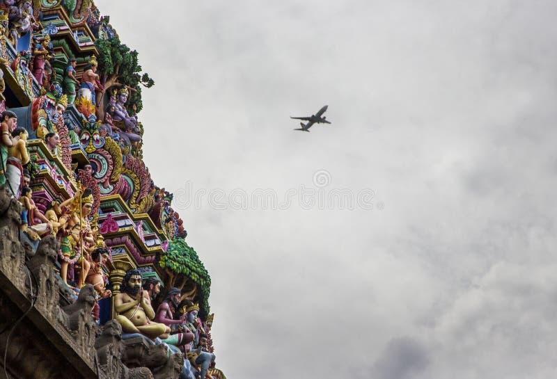 IndierKapaleeswarar tempel, Chennai, Indien arkivbild