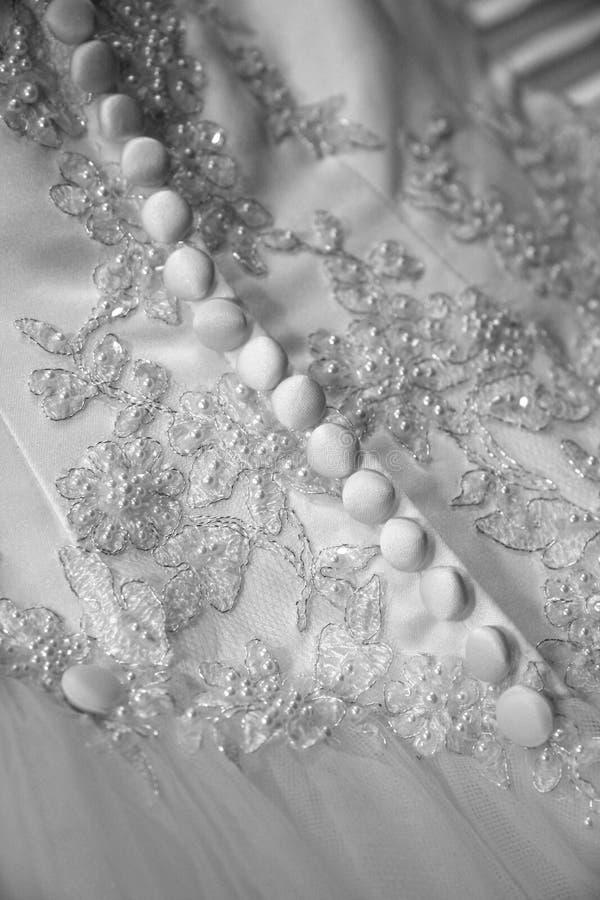 Indietro del vestito da cerimonia nuziale fotografie stock libere da diritti