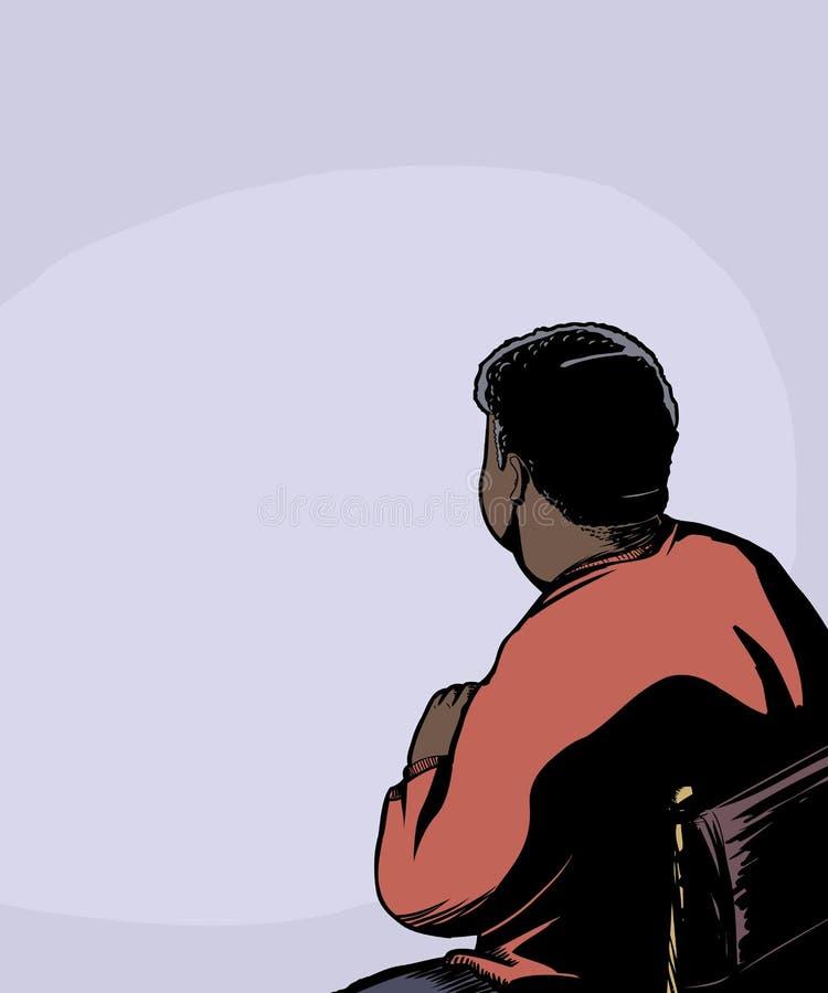 Indietro dell'uomo messo illustrazione vettoriale