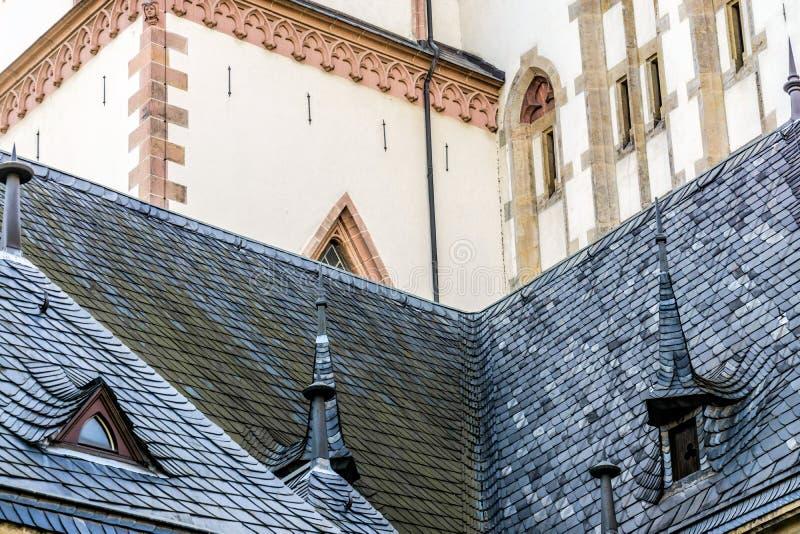 Indietro della chiesa di Thomaskirche in Lipsia fotografia stock