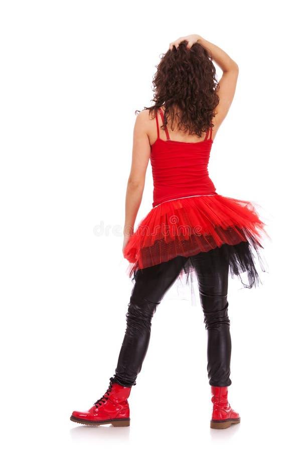 Indietro di una ballerina immagine stock