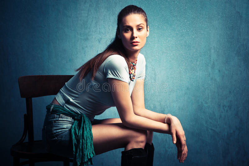 Download Indifferent stock photo. Image of chair, shirt, indifferent - 23323138