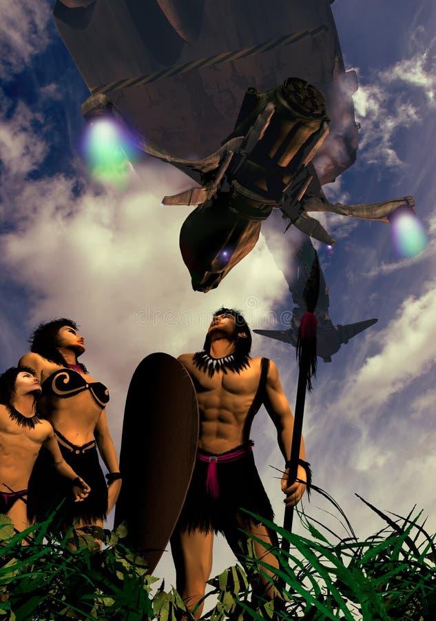 Indigènes envahis illustration de vecteur