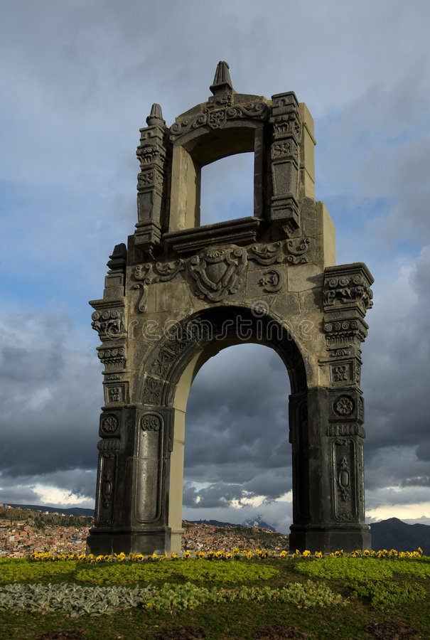 Indigenous Arch, La Paz Stock Photos