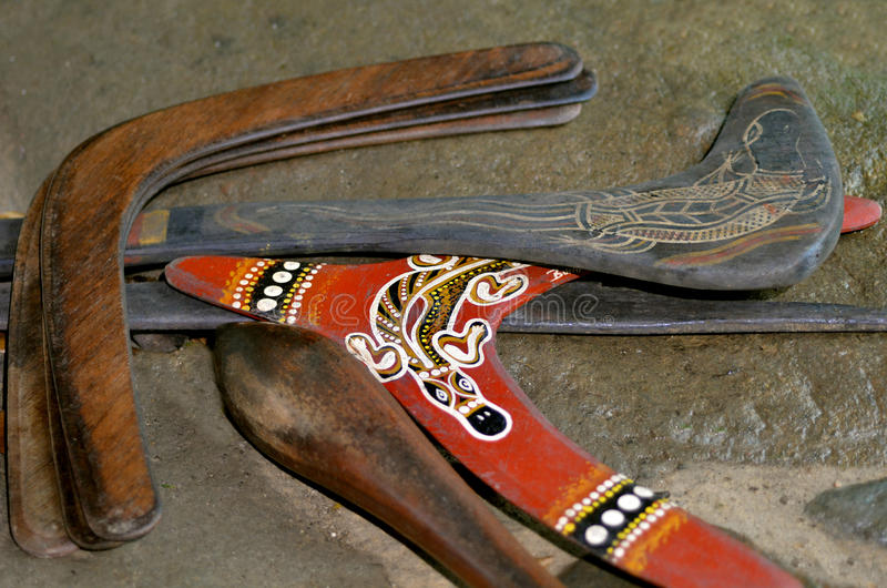Download Indigenous Australia Boomerangs Stock Photo - Image of cultural, drawing: 70873128
