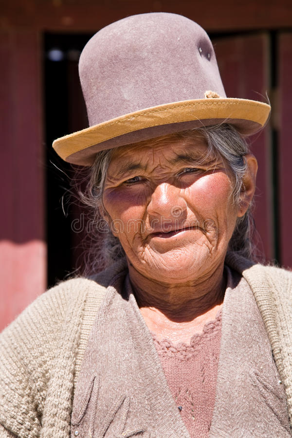 Indigenous Bolivian royalty free stock photography