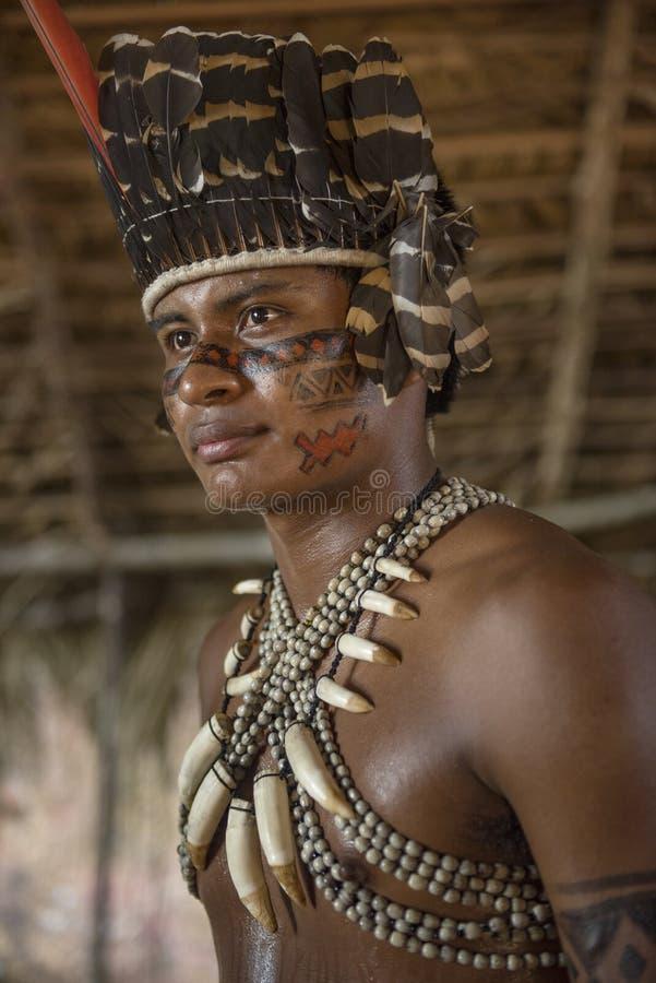 Manaus, Amazonas, Brazil - August 16, 2016: Indigenous Brazilian stock photography