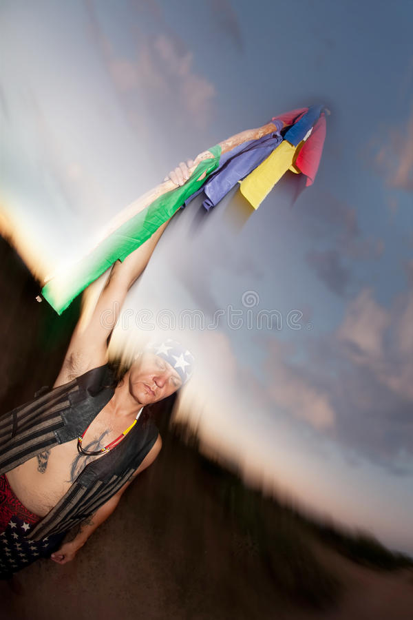 Download Indigenous Man With Ceremonial Pole Stock Photo - Image: 16507064