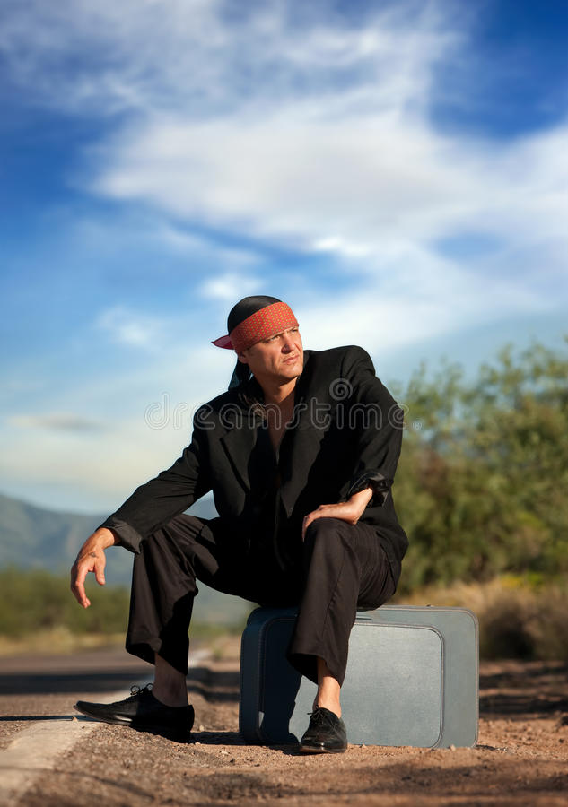 Download Indigenous Man By The Side Of The Road Stock Image - Image: 16286531
