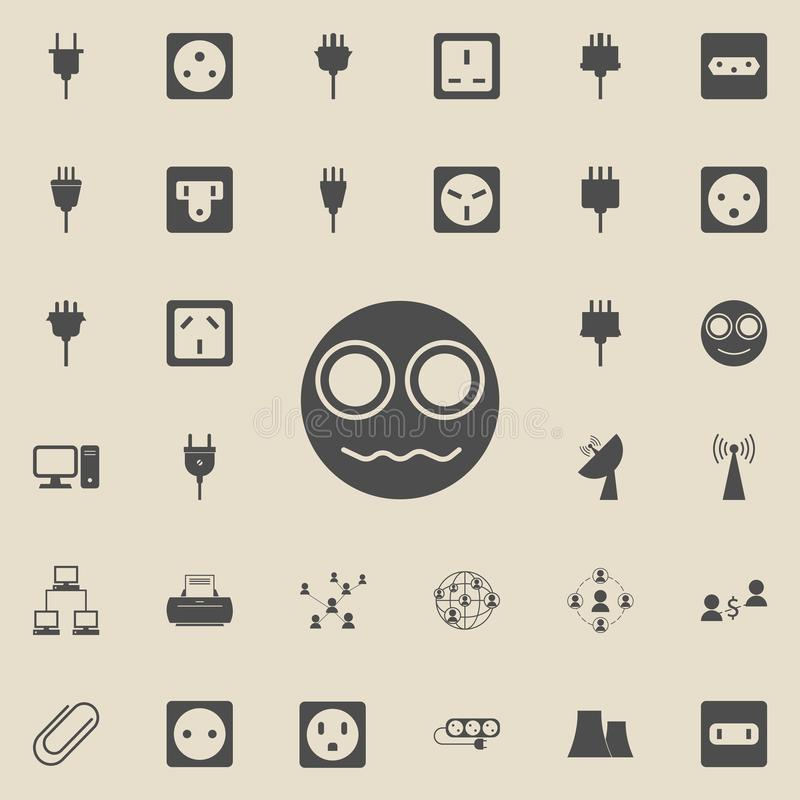 An indignant smiley icon. Detailed set of Minimalistic icons. Premium quality graphic design sign. One of the collection icons f. Or websites, web design, mobile vector illustration