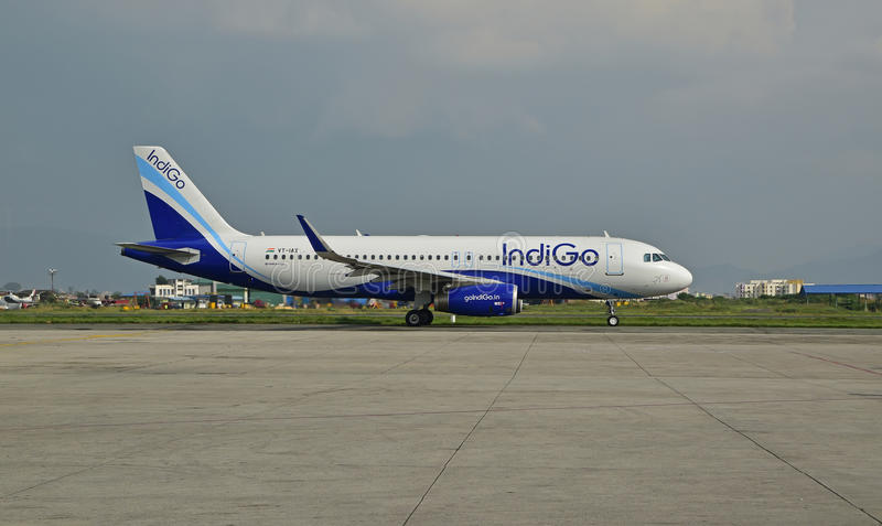 Download Indigo Airline At Nepal Tribhuvan International Airport Editorial Stock Image Image Of Field