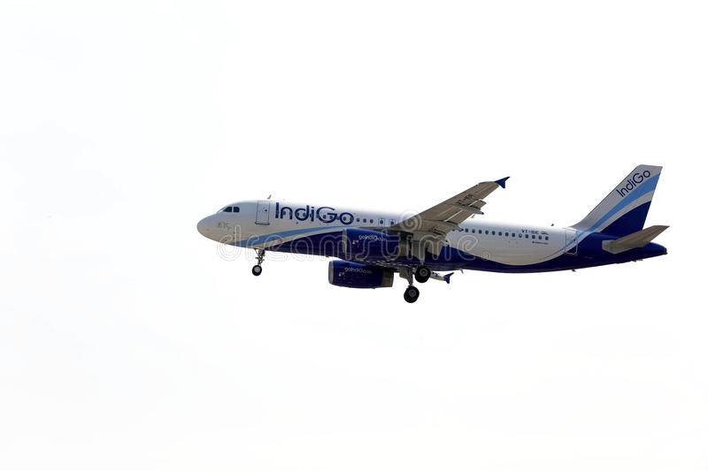 IndiGo Airlines A320 stock image