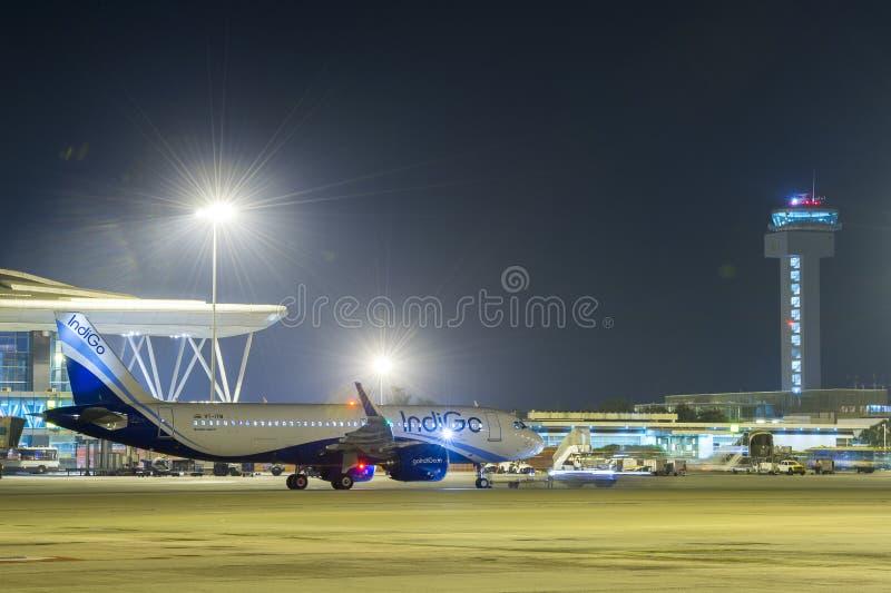 Indigo Airlines A320-Stock Image stock photo
