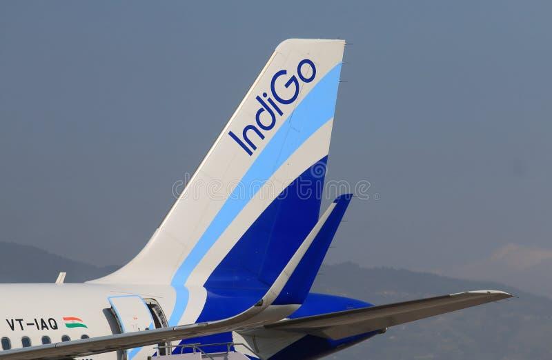 Indigo airline India stock images