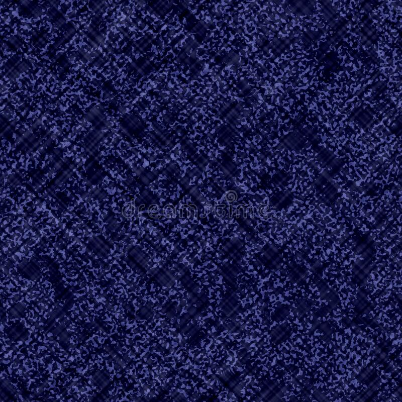 Indigo blue batik dyed fabric effect texture background. Seamless japanese repeat pattern swatch. Painterly fcriss cross. Grid bleach dye. Masculine asian vector illustration