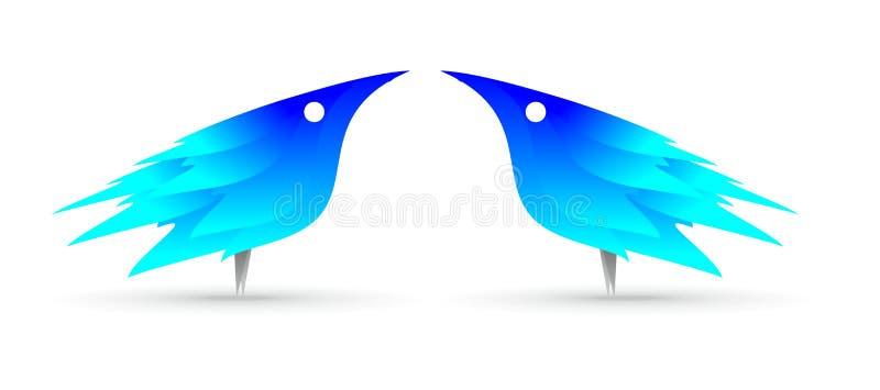 Indigo blue bird stock photos