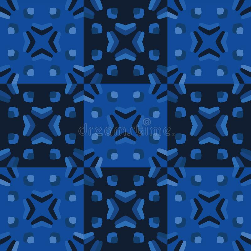 Seamless Quilted Pattern With Grunge Striped And Checkered
