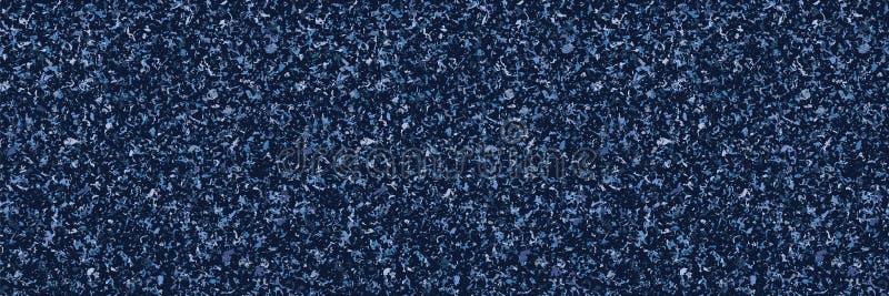 Indigo Blue Speckled Paper Texture Border - bakgrund Vektorns sömlösa mönster För Dyed Handmade Japanska stilen Kimono stock illustrationer