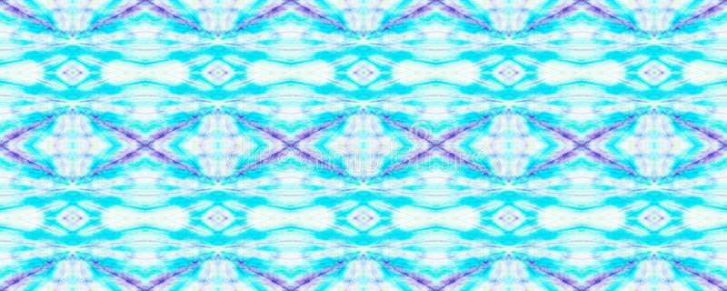 Tie Dye Pattern. Indigo and Blue Watercolor hand drawn batik. Summer ink japan illustration. Handmade watercolour shirt tie dye pattern. Aztec kaleidoscope vector illustration