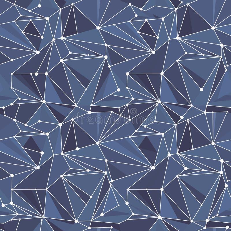 Indigo Geometrisch Vectorpatroon royalty-vrije illustratie