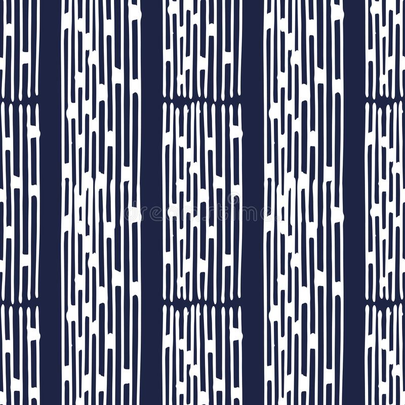 Indigo Japanse pattern29 stock illustratie