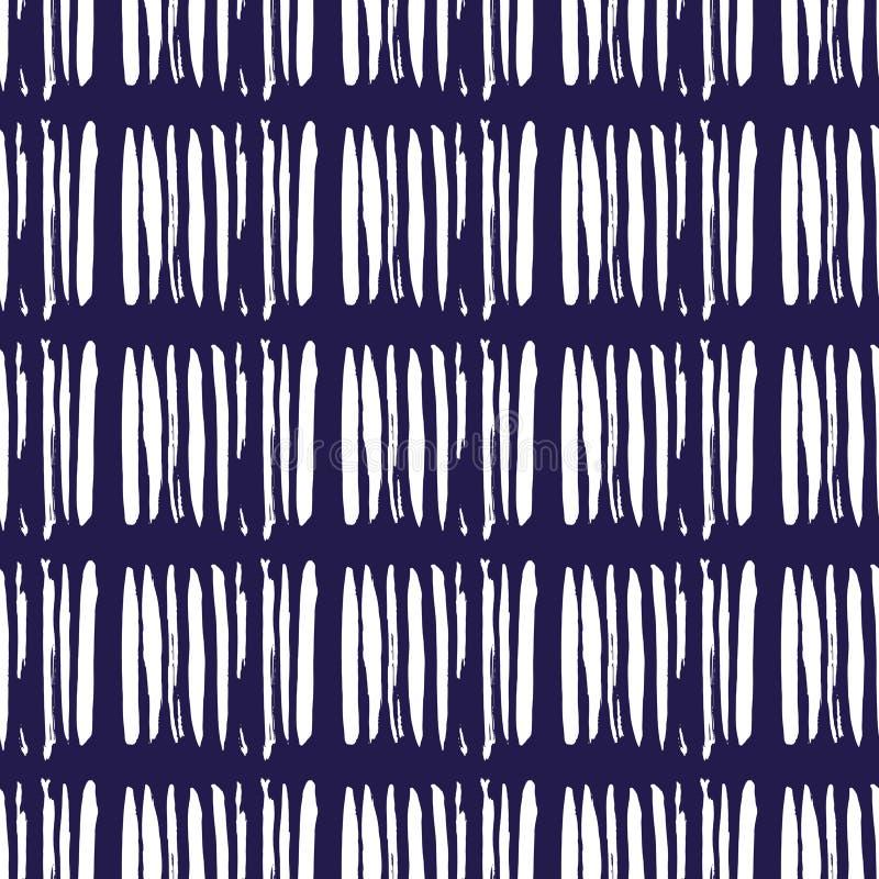 Indigo Japanse pattern6 royalty-vrije illustratie