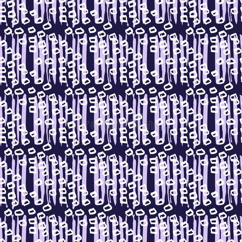 Indigo Japanse pattern2 vector illustratie