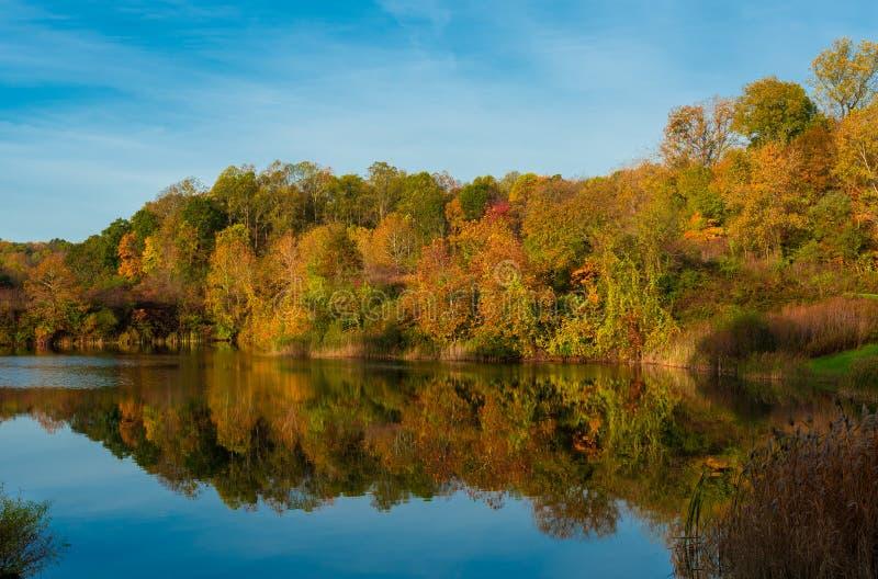 Indigo Lake in fall stock photos