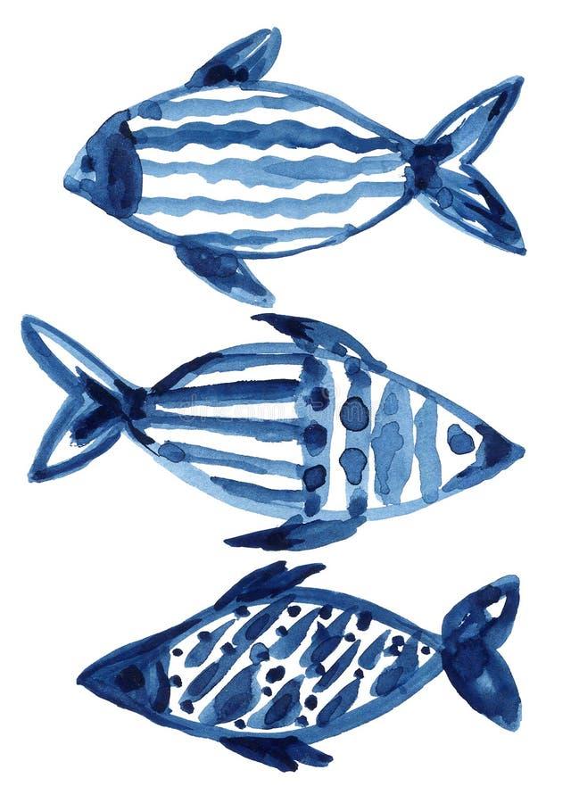 Indigo navy blue pattern abstract grunge and splash watercolor beautiful shibori tie dye paint Texture decoration on white. Background hand drawn stock photo
