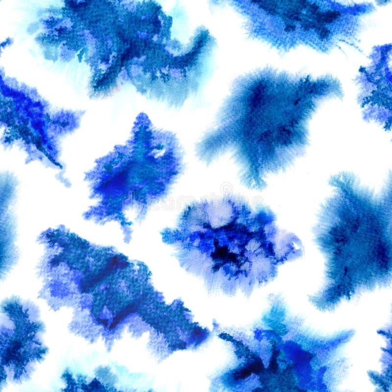 Indigo splashes pattern. stock illustration