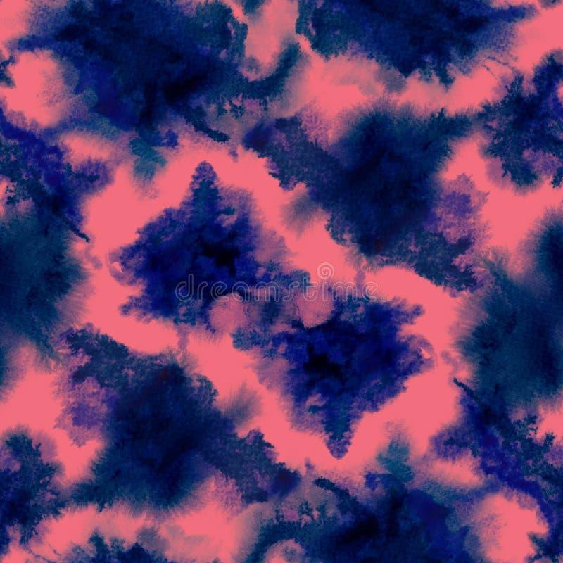 Indigo splashes pattern. royalty free illustration