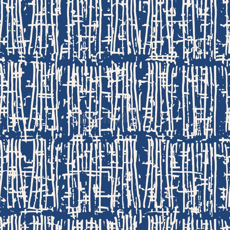 Indigo vector tie dye seamless pattern. vector illustration