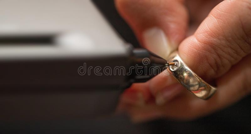 Indikator Diamond Tester Gemstone Selector Gems LED lizenzfreies stockfoto