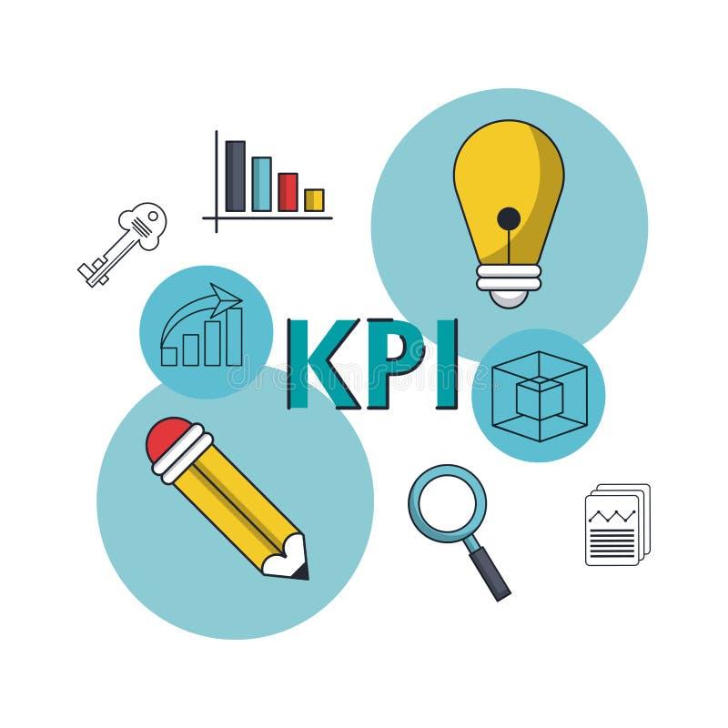Indikator för nyckel- kapacitet stock illustrationer
