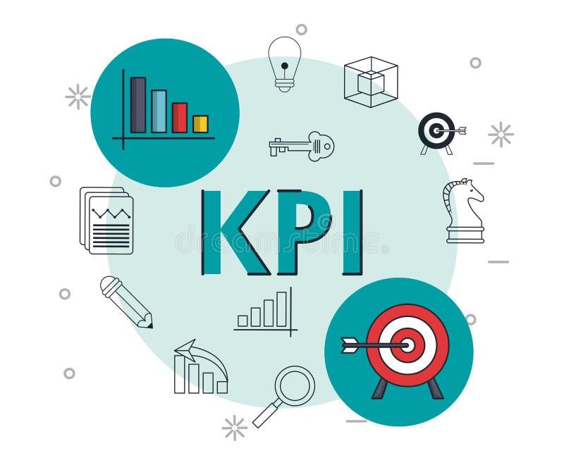 Indikator för nyckel- kapacitet vektor illustrationer