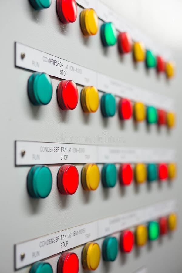 Indikator för signallampa för showstatus av det elektrisk och kontrollsystemet arkivbild