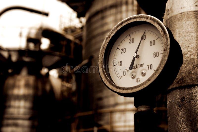 Indikator för tryckmetergas arkivbilder
