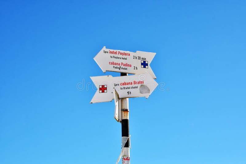 Indikatorer i Bucegi berg, Rumänien royaltyfri bild