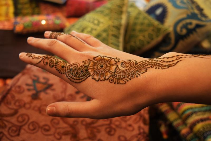 Indio Henna Tattoo fotos de archivo libres de regalías