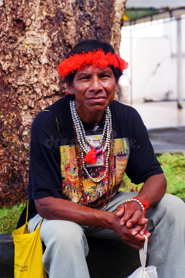 Indio nativo del Brasil foto de archivo libre de regalías