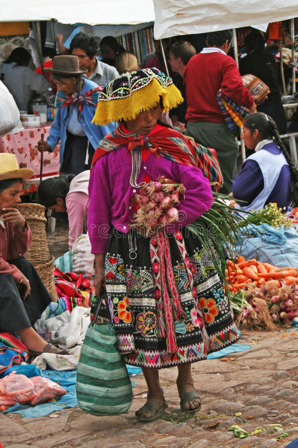 Indios peruviani fotografie stock