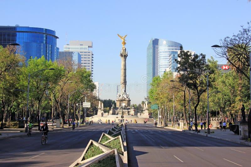 Indipendence纪念碑,墨西哥城 库存照片