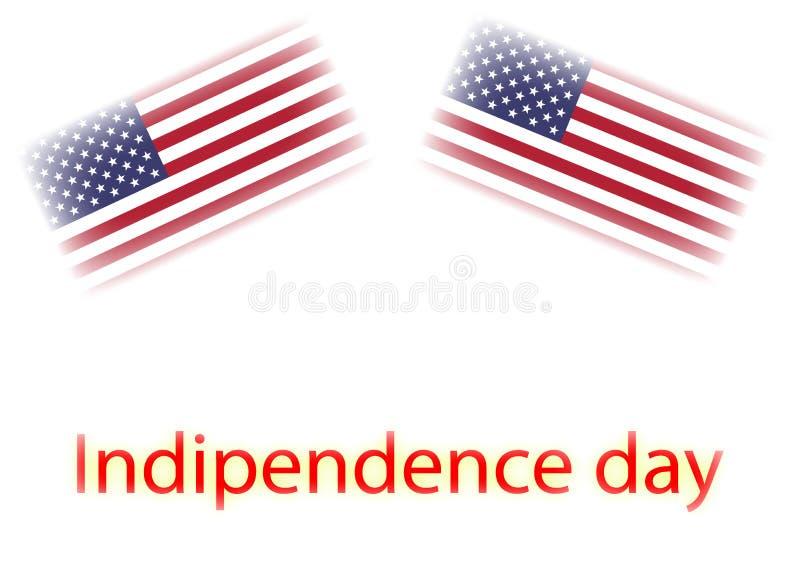 Indipendence dzień pisze z usa flagami ilustracyjnymi zdjęcie royalty free